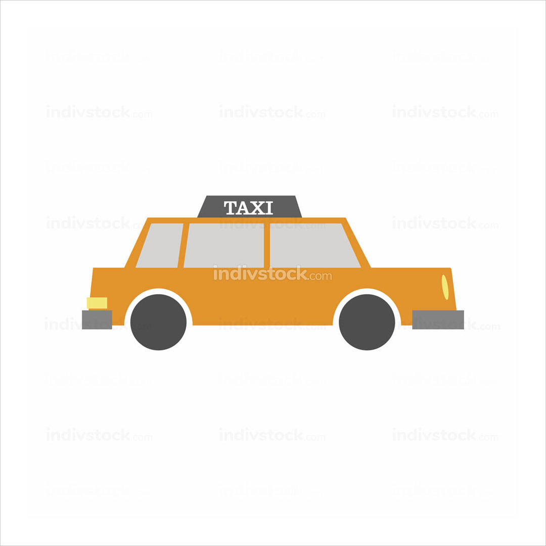 Taxi Side View Illustration