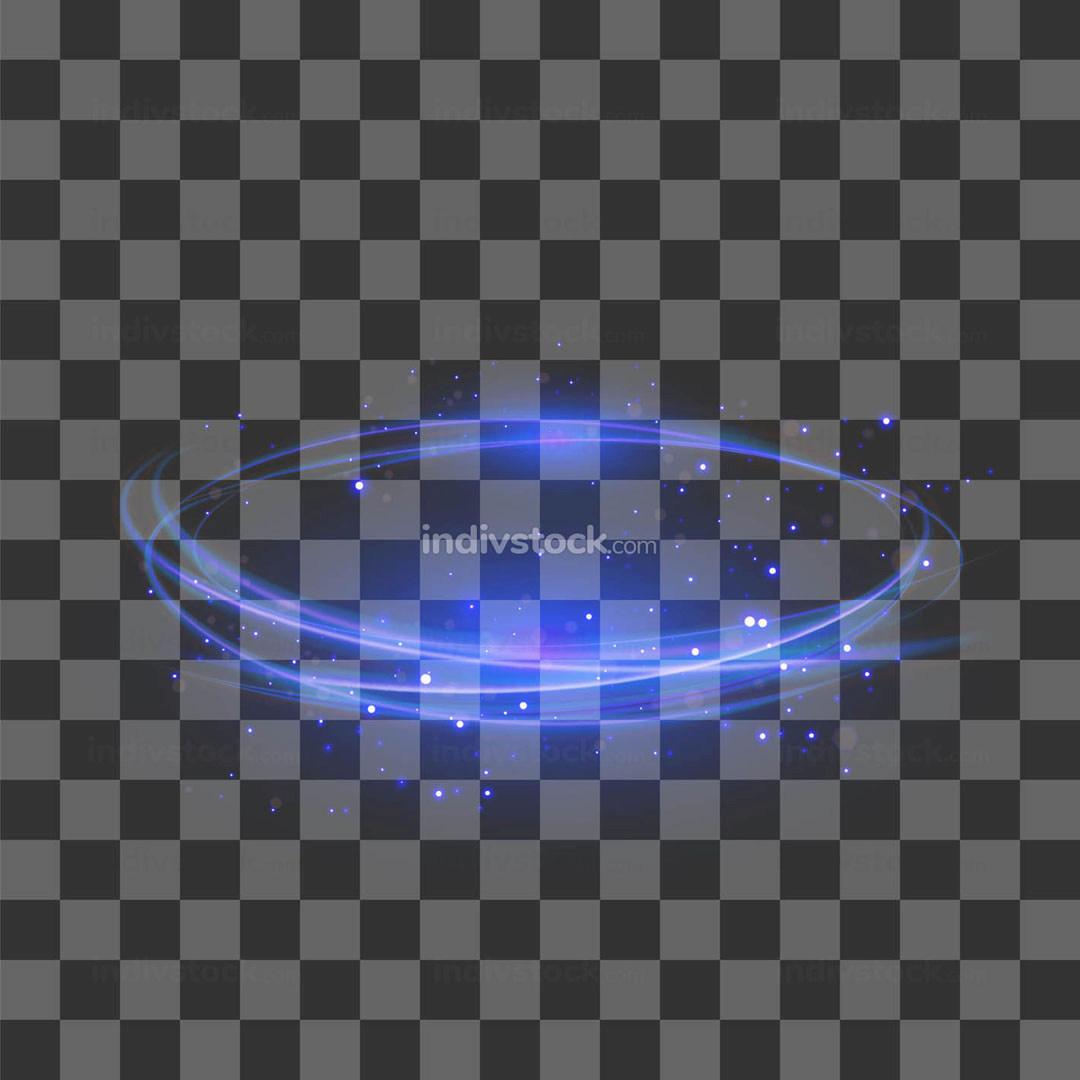 Transparent Light Effect Blue Lightning Flafe Design
