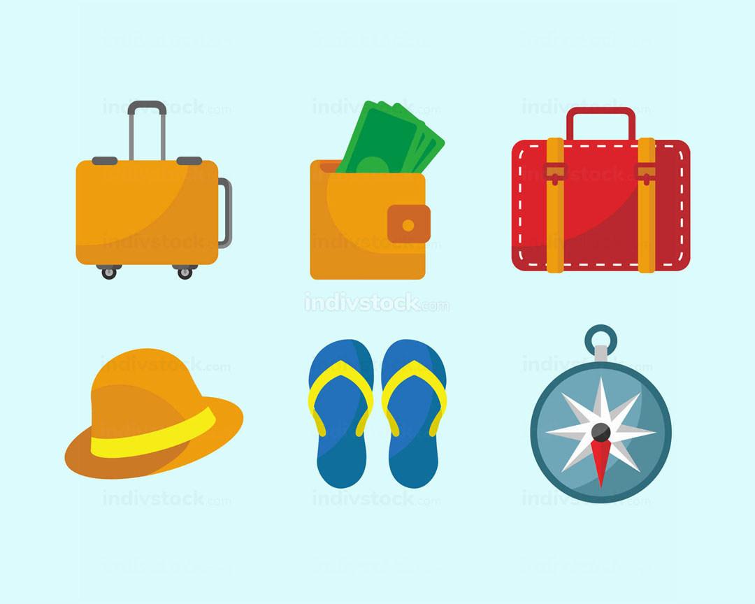 Travel Stuff Icon Set