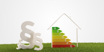 3d-illustration paragraph symbol house energy efficiency
