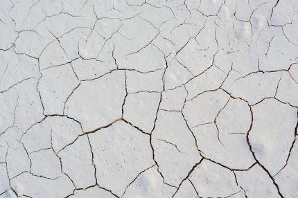 Brown color dry cracked muddy earth