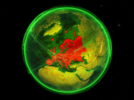 Europe on green networked Earth