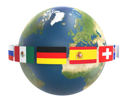 free download: flags around the world. planet earth globe 3d-illustration. elem