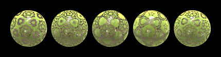 green golden decorated balls