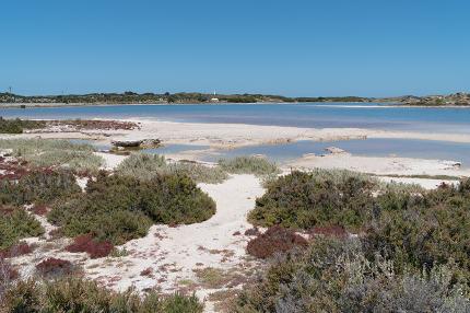 Salt lakes, Rottnest Island, Western Australia