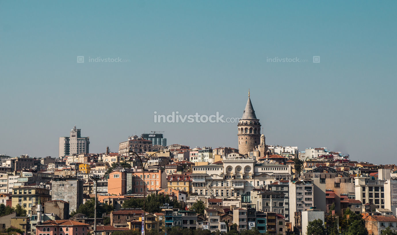 Galata Tower from ancient  times in Istanbul