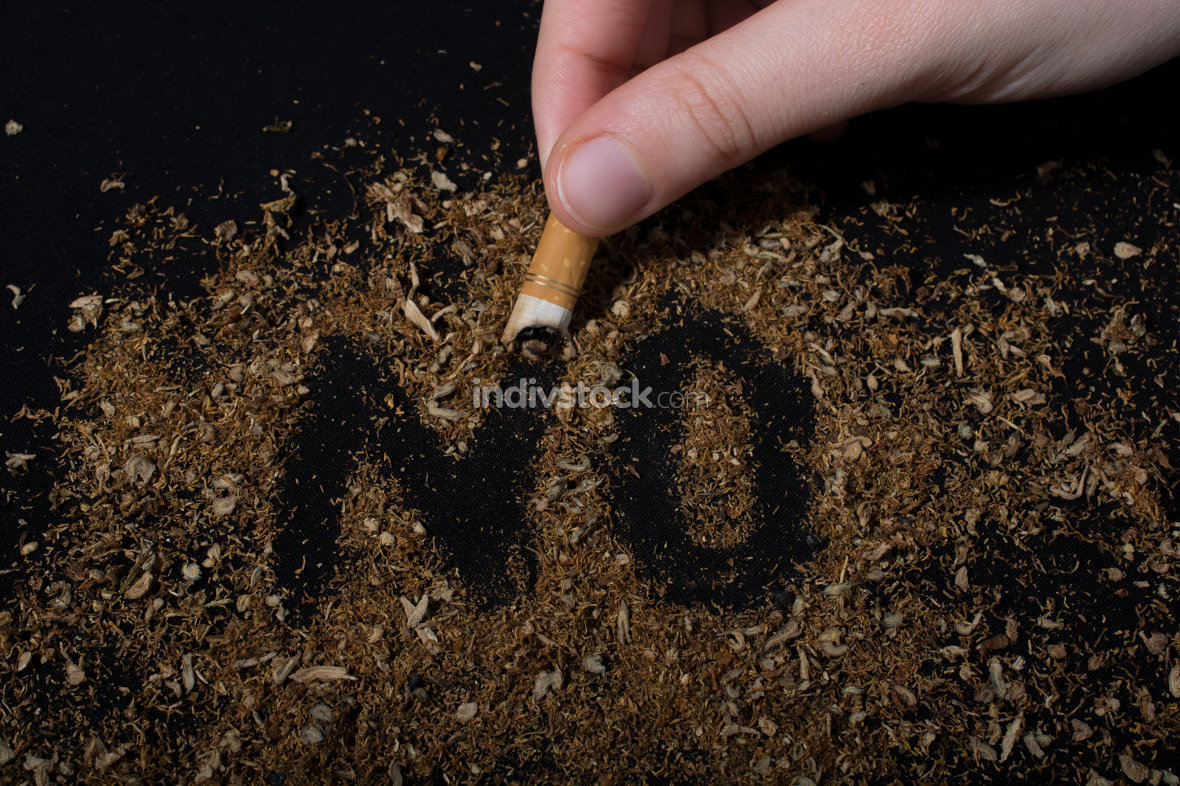 No Tobacco Day poster for say no smoking concept