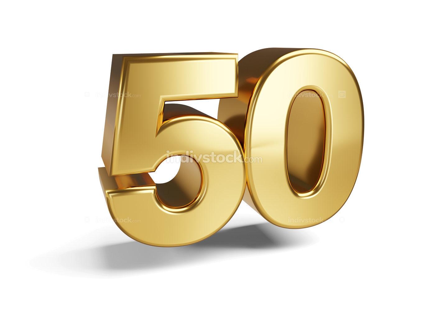 50 symbol 3d-illustration