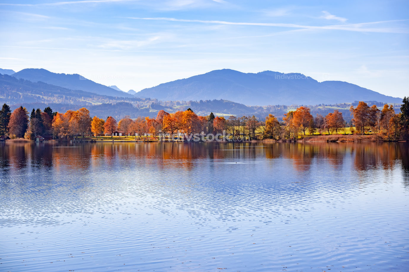 autumn scenery in Bavaria Germany