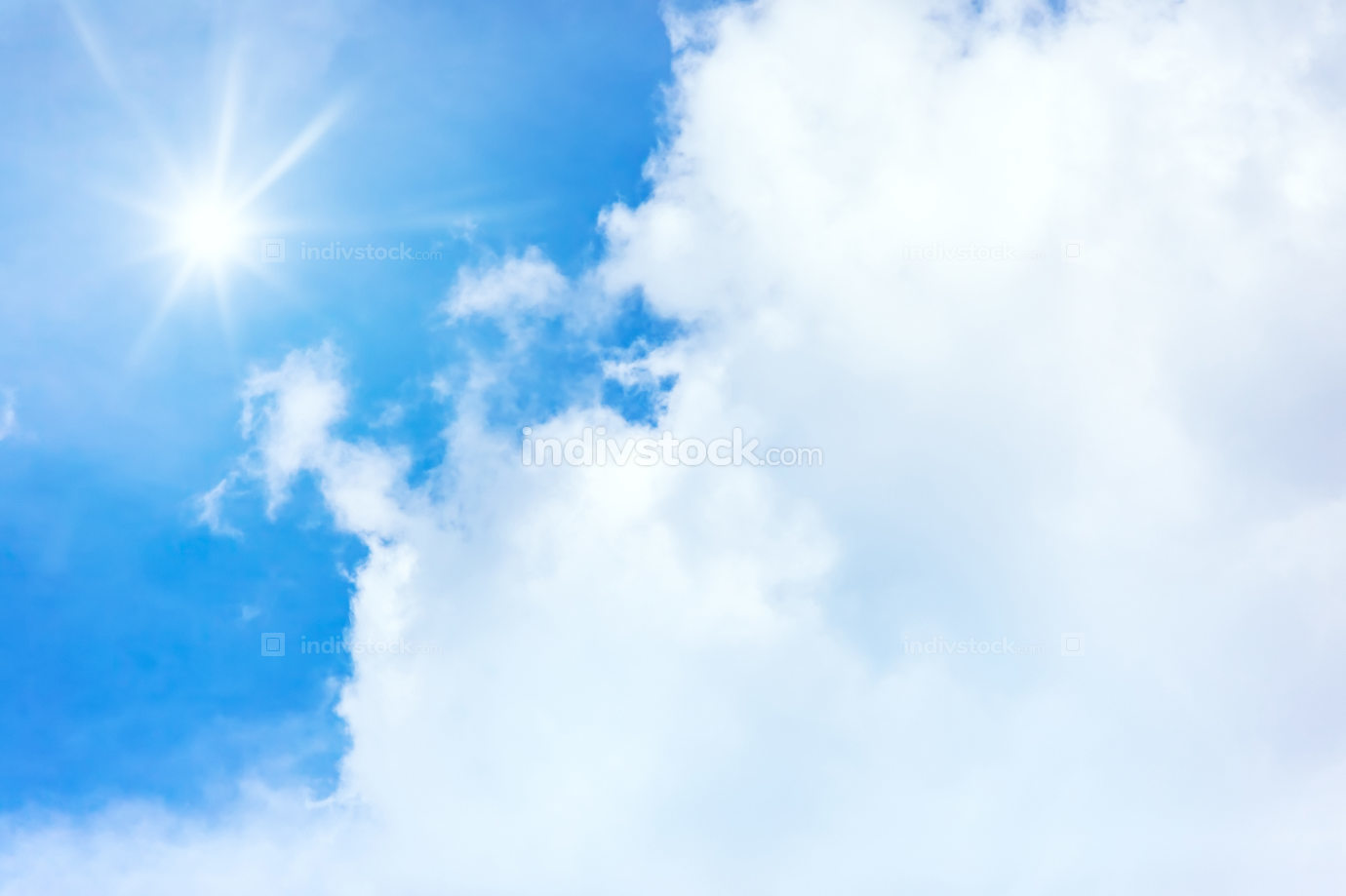 blue sky sun background