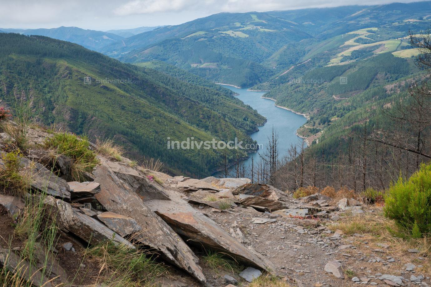 Camino de Santiago trail, Asturias, Spain