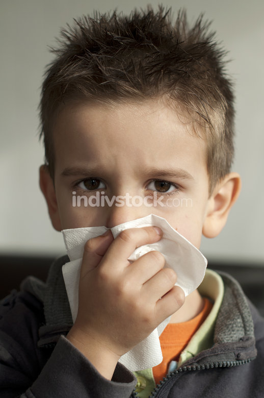 Child suffering from a cold