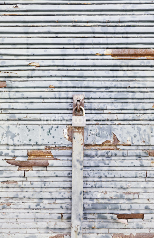 Chipped and rusty metal wall