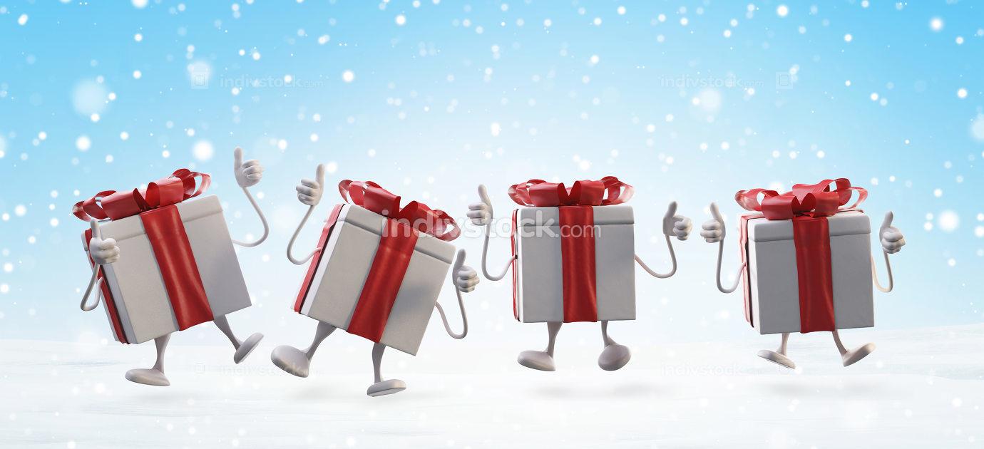 christmas presents 3d-illustration