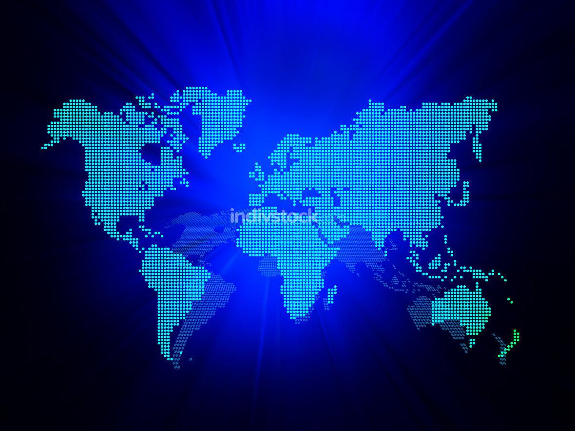 Dot World map business background