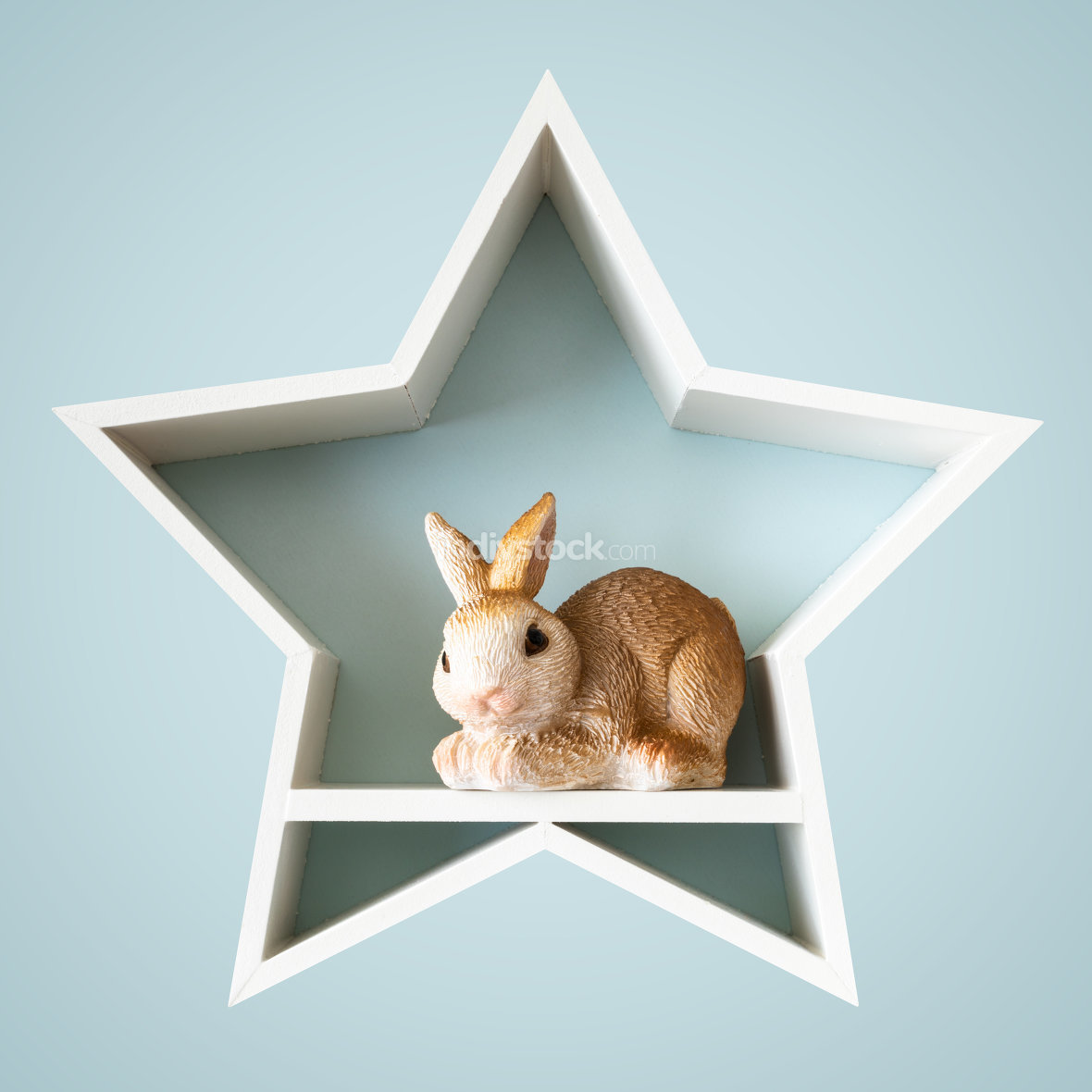 Easter bunny in a white star