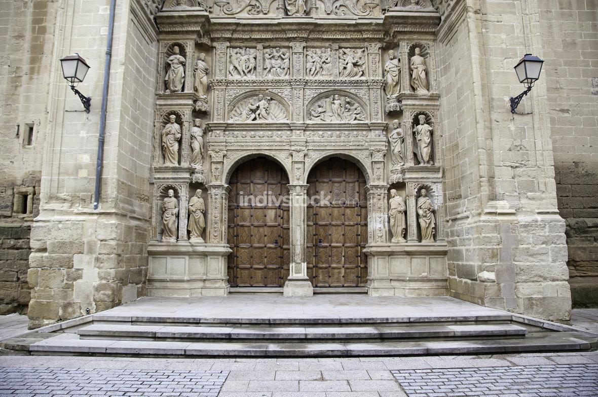 Facade of old medieval church