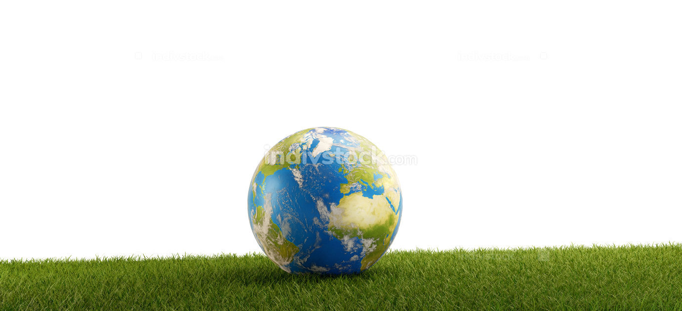 free download: blue earth on green grass field background