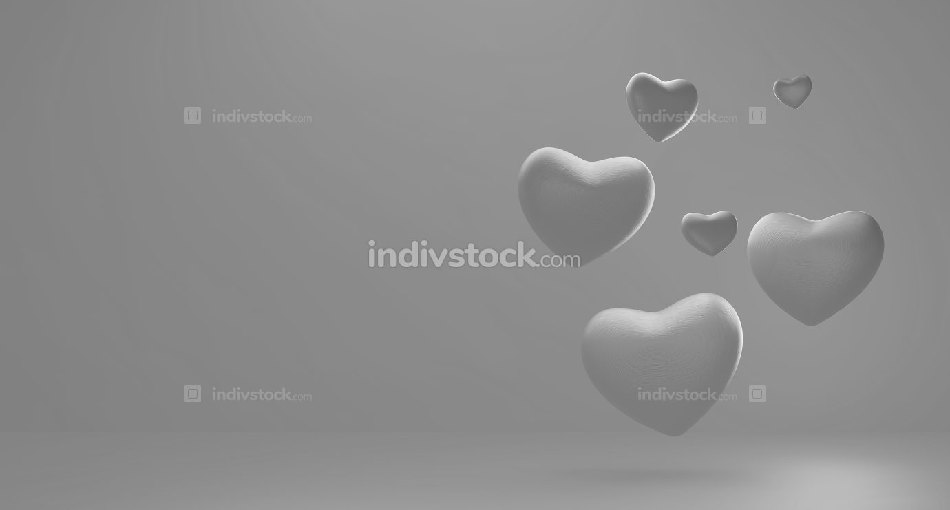 free download: hearts background 3d-illustration
