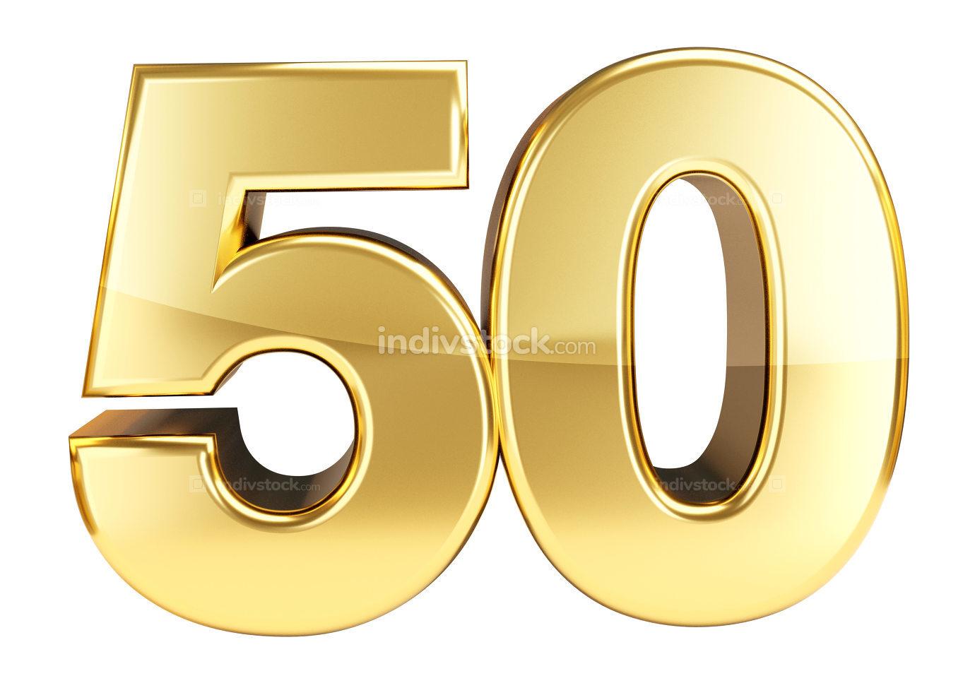 golden 50 3d-illustration