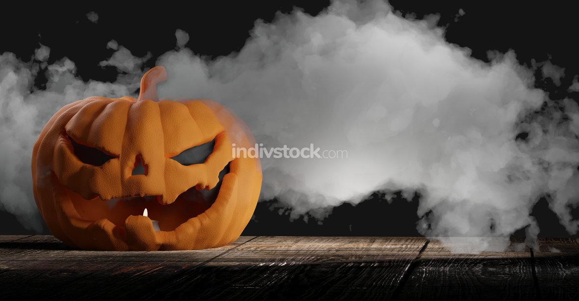 Halloween pumpkin background 3d-illustration