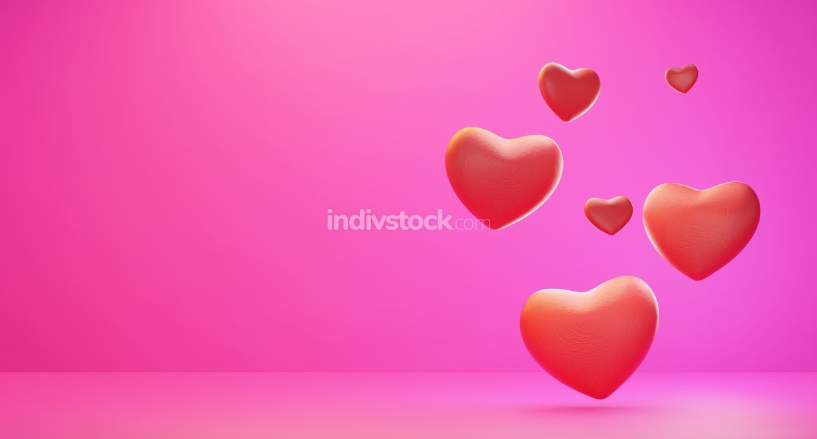 hearts background 3d-illustration