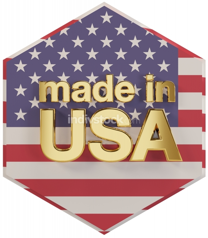 made in USA 3d-illustration