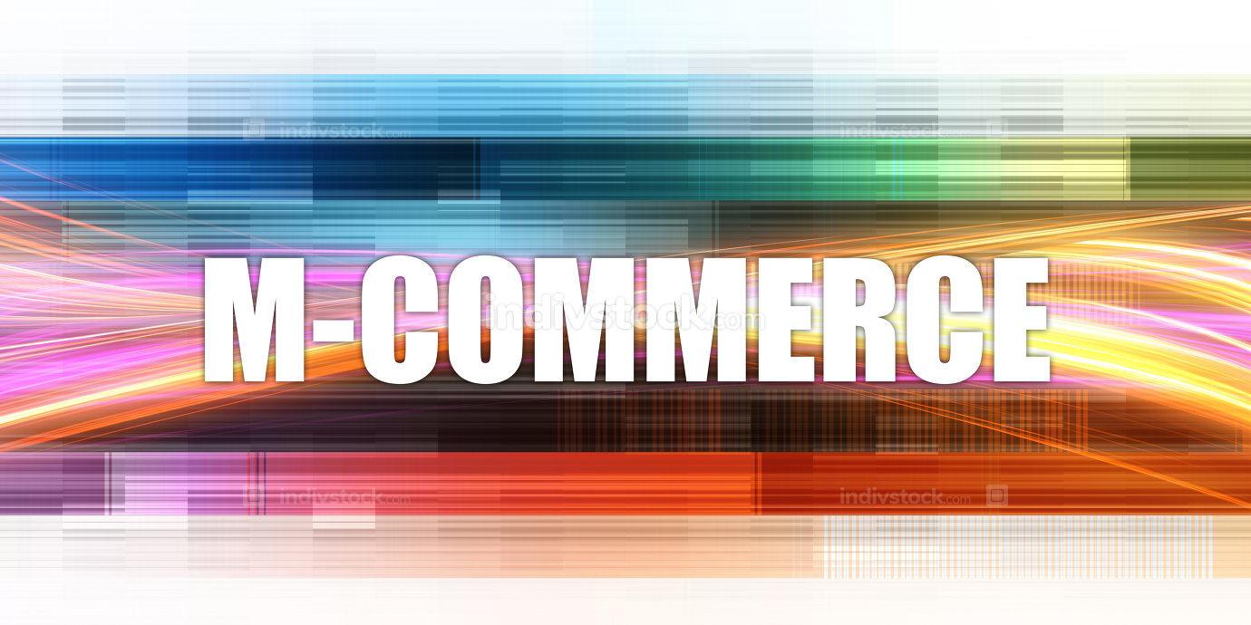 M-commerce Corporate Concept