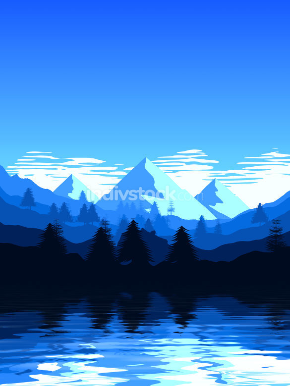 mountain landscape scenery blue