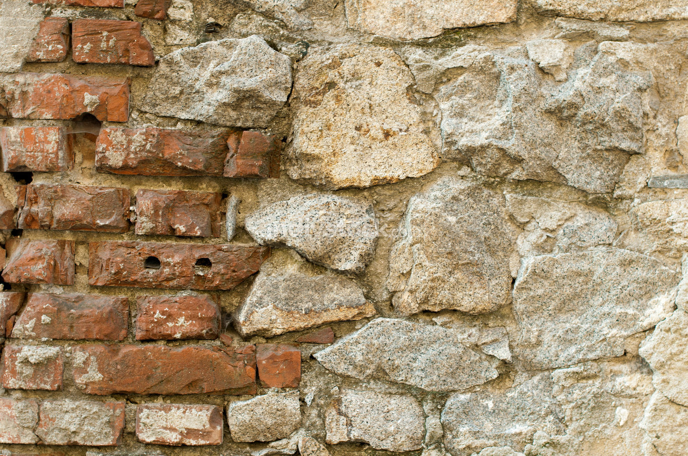 Old brick and stones wall