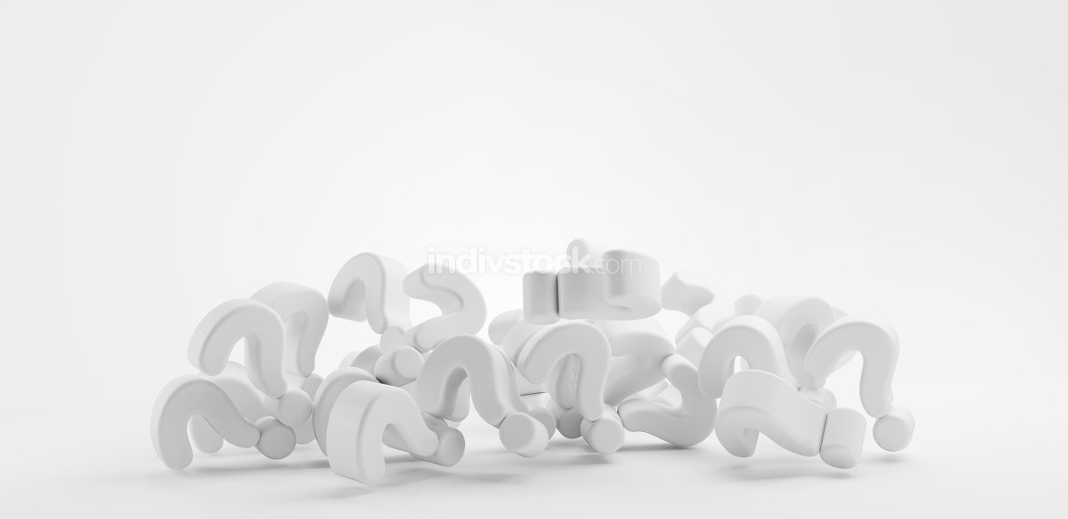 pile of questions marks 3d render 3d-illustration