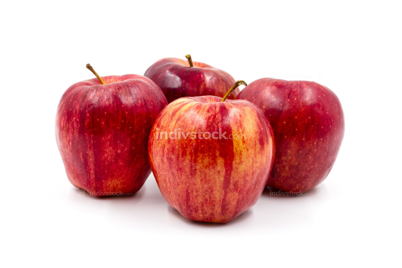 Red Apples isolated on white background.