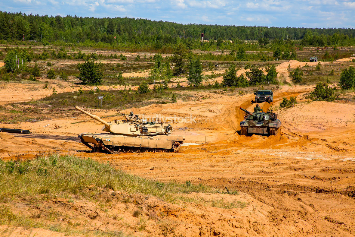 Saber Strike military training in the landfill in Latvia.