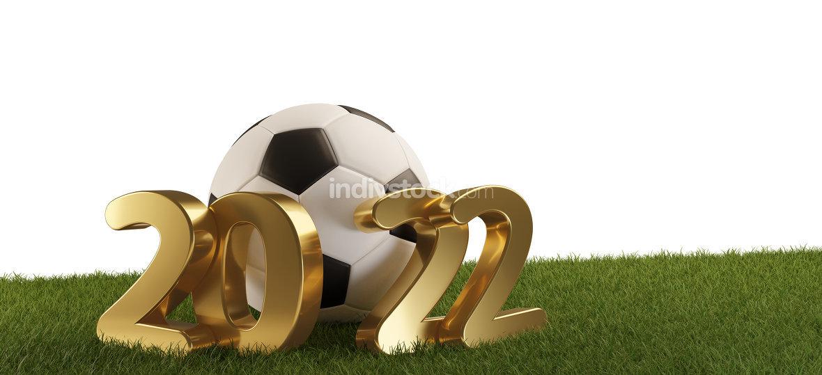 soccer ball 2022. 3d-illustration