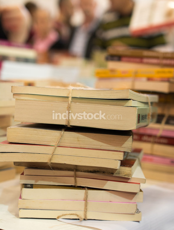 Stack of books as  Education and  business concept