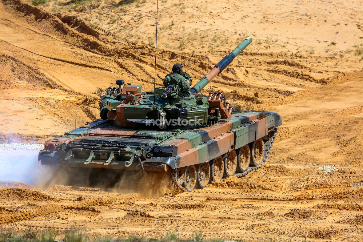 Tank in military training Saber Strike in Latvia.