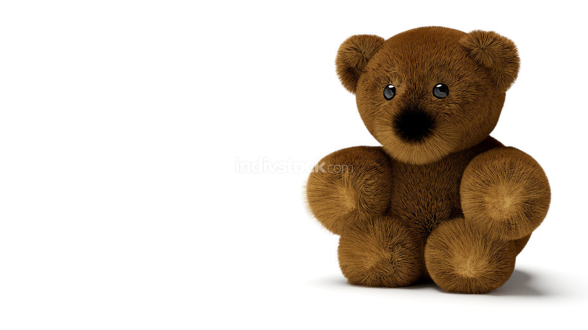 teddy bear isolated on white 3d-illustration