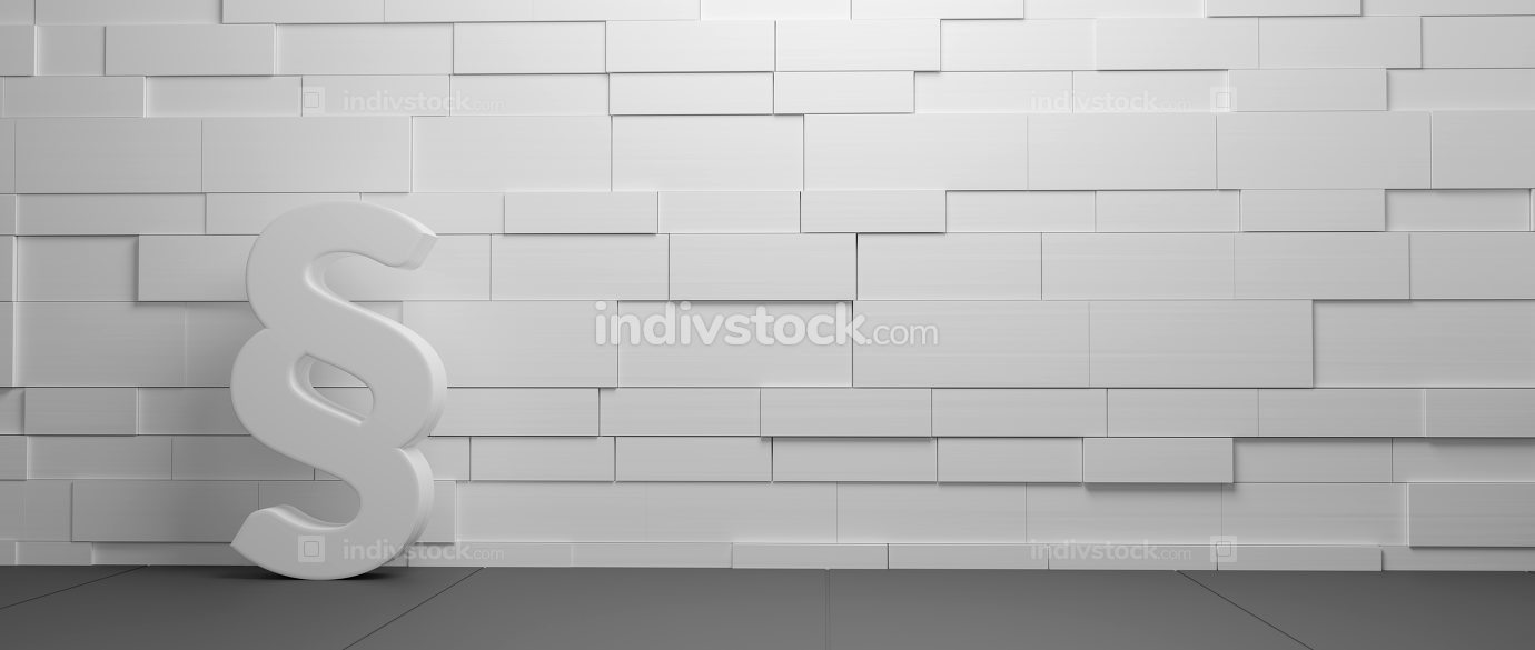 wall paragraph background 3d-illustration