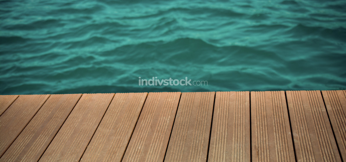 Water and wood texture as a background