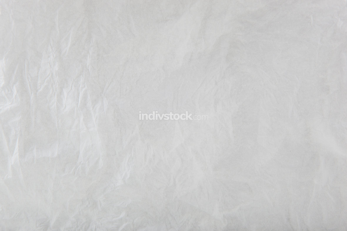 White Blank Crumpled Paper Texture Background