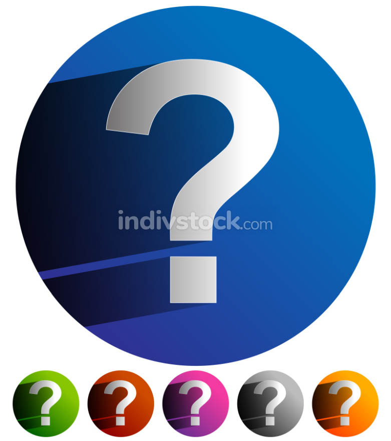 Question mark icon for related themes. Support, problem, questio