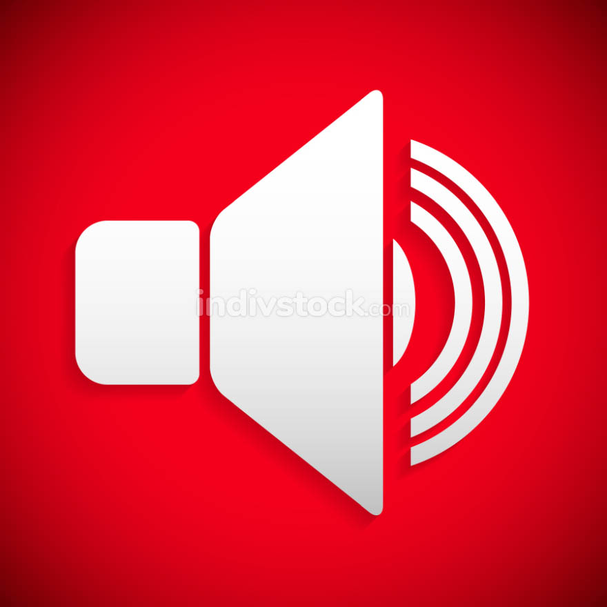 Red speaker icon