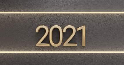 2021 golden background 3d-illustration