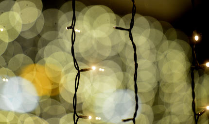 abstract bokeh lights on black background
