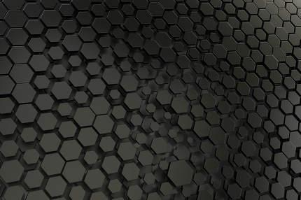 black and white hexagon background