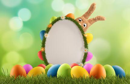 Easter Greeting Board 3d-illustration