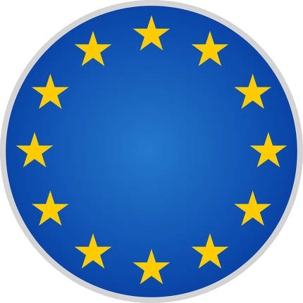 free download: blue yellow isolated on white EU Europe symbol with 12 stars 3d-