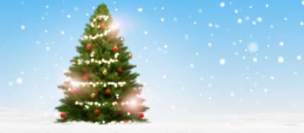 free download: blurred christmas fir tree background with snow and snowflakes 3