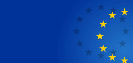 free download: creative abstract stars of the flag of Europe background 3d-illu