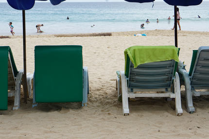 free download: deck chair on the beach at the ocean